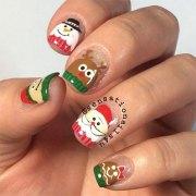 christmas santa nail art design