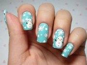 christmas snowman nail art design