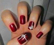 christmas present nail art design