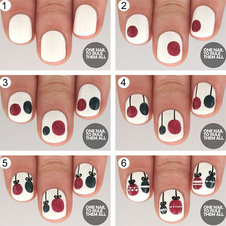 18 Easy Step By Christmas Nail Art