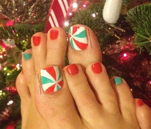20 Best Merry Christmas Toe Nail Art Designs 2016