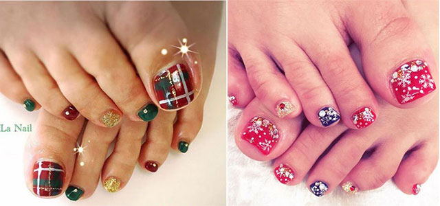 20 Best Merry Christmas Toe Nail Art Designs 2017 Holiday Nails Fabulous