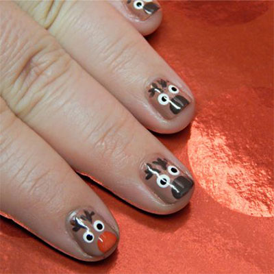 Easy Cute Christmas Nail Art Designs Ideas For