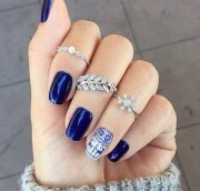 winter gel nails art design