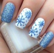 winter snowflakes nail art