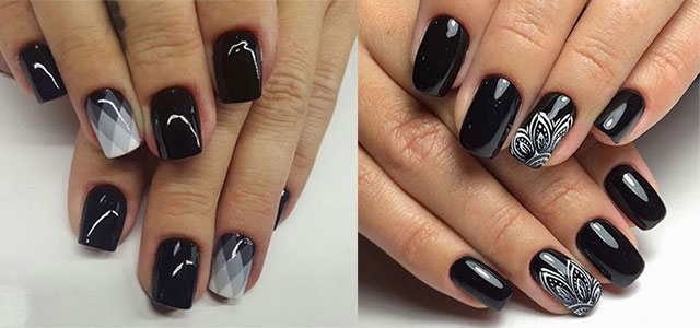 18 Awesome Winter Black Nails Art Designs Ideas 2017 Nail
