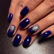 blue winter nails art design