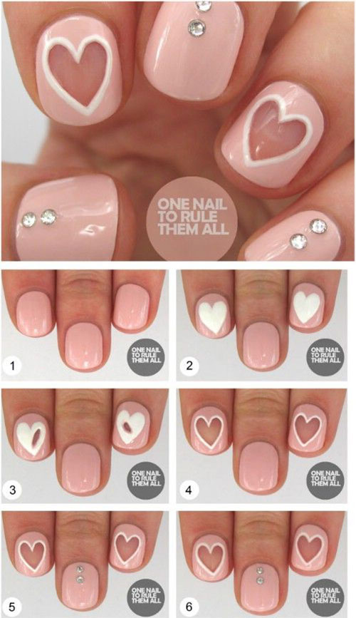 10 Step By Valentines Day Nail Art