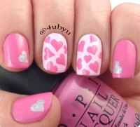 15+ Pink Valentine's Day Nail Art Designs & Ideas 2017