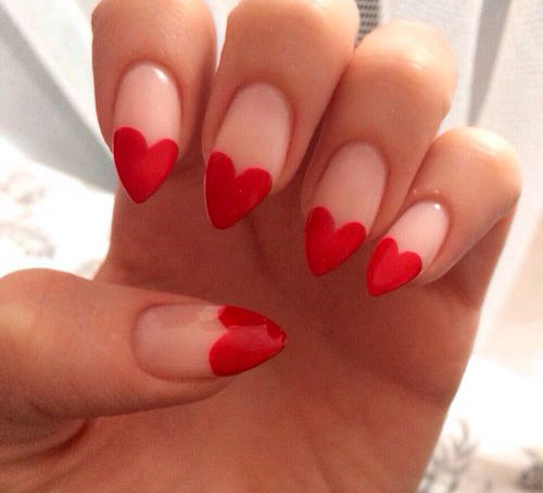 15 Valentines Day Pointy Nail Art Designs Ideas