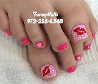 15 Valentine's Day Toe Nail Art Designs & Ideas 2017 ...