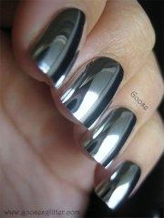 amazing silver mirror nail art