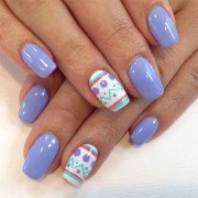 easter color nail art design