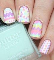 easter gel nail art design