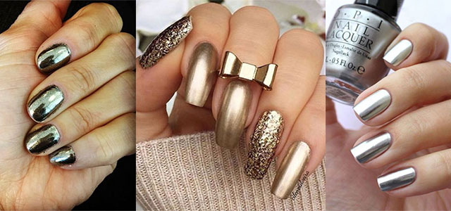 18 Gold Amp Silver Chrome Nails Art Designs Amp Ideas 2017