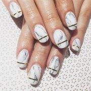white marble nails art design