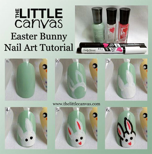 12 Easter Nail Art Tutorials For Beginners Learners