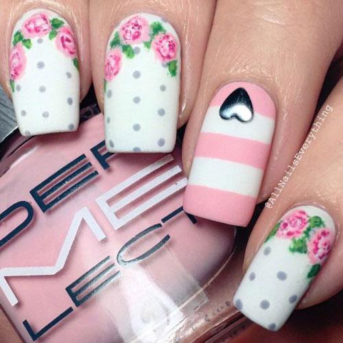 15 Pink Fl Nail Art Designs Ideas 2017
