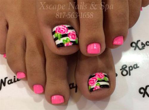 15 Spring Black Fl Nails Art Designs Ideas