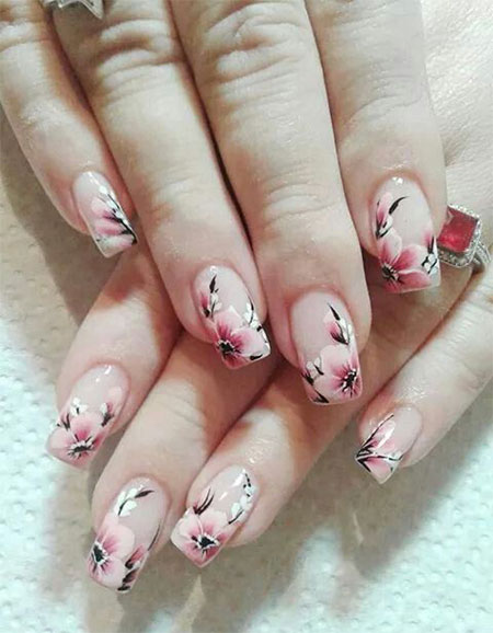 20 Cherry Blossom Spring Nails Art Designs Ideas
