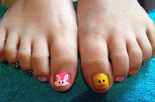 Easter Toe Nail Art Designs Ideas 2017 3