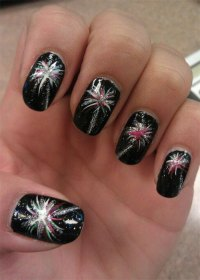 15 Amazing 4th of July Fireworks Nail Art Designs & Ideas ...