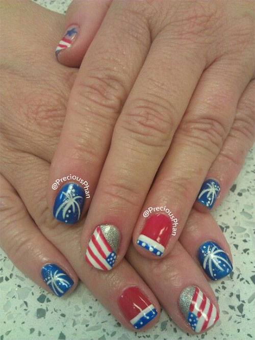 15 Amazing 4th Of July Fireworks Nail Art Designs Amp Ideas