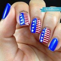 15+ American Flag Nail Art Designs & Ideas 2017   4th of ...