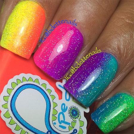15 Neon Summer Nails Art Designs & Ideas 2017