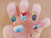 15+ Summer Beach Nails Art Designs & Ideas 2017