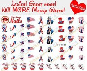 amazing 4th of july nails art stickers