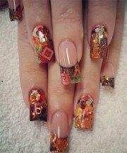 autumn acrylic nail art design