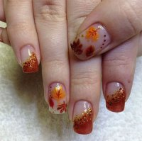 15+ Autumn Gel Nail Art Designs & Ideas 2017