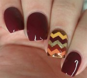 autumn gel nail art design