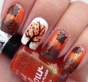 autumn leaf nail art design
