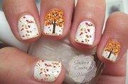 autumn nail art stickers & decals