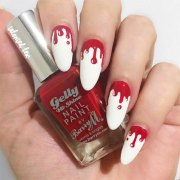 halloween blood nails art design