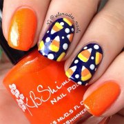 halloween candy corn nails