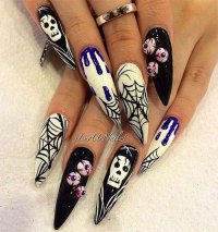 15+ Halloween Skull Acrylic Nails Art Designs & Ideas 2017 ...