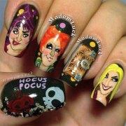 halloween witch nails art design
