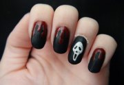 scary halloween nails art design
