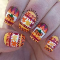 18 Easy Halloween Pumpkin Nails Art Designs & Ideas 2017 ...