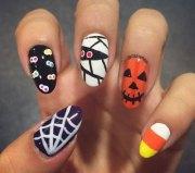 halloween spider nail art design