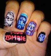 halloween zombie nails art design