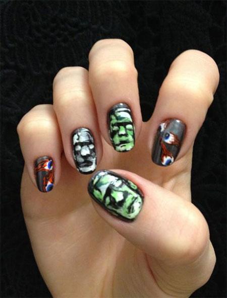 30 Best Halloween Nails Art Designs  Ideas 2017  Fabulous Nail Art Designs