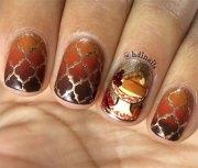 easy thanksgiving nail art design