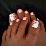 spring toe nails art design