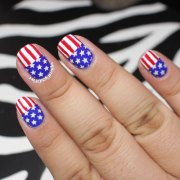 american flag nail art design