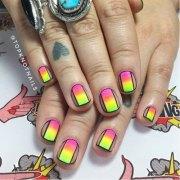 neon summer nails art design