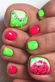 summer toe nails art design &